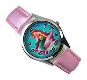 Disney-Princess-Ariel-Little-Mermaid-Wrist-Quartz-Fashion-Child-Girl-Watch-Xmas