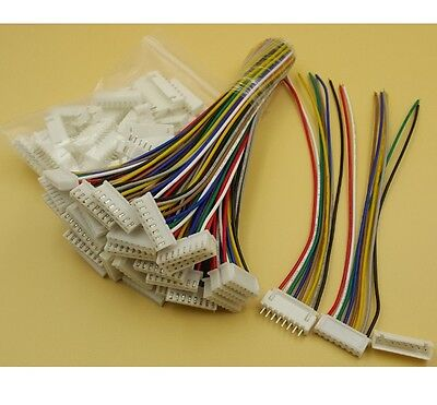 10sets Xh2.54 8pin 1007 24awg Single End 15cm Wire To Board Connector