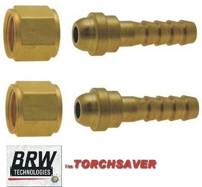 Mini Torch Fitting 7 B-size Rh Oxygen Nut 17 14 Hose B-250-rh-oxy