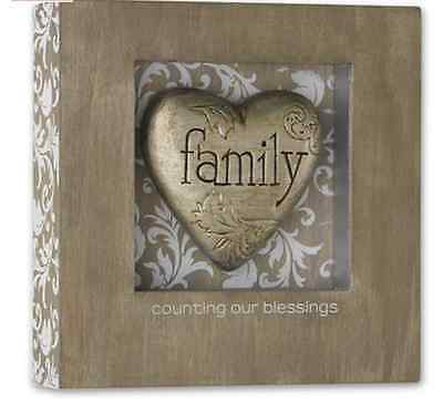 Family Heart Shadow Box, Counting Our Blessings Demdaco 8
