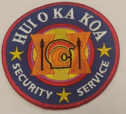 HUI O KA KOA SECURITY SERVICE SEC HAWAII HI SPEAR HEAD GEAR (FIRE)