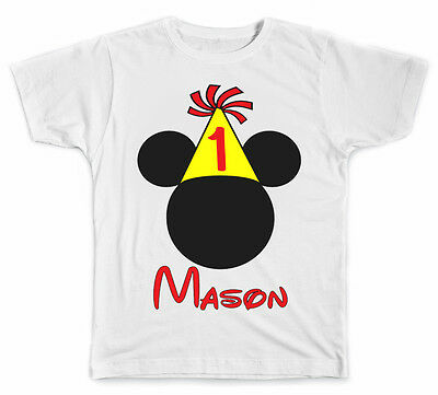 Personalized Mickey Ears Birthday Style 2 T-Shirt (Personalized Mickey Ears)