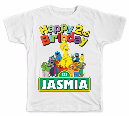 Personalized Sesame Street Birthday T-Shirt