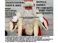 Santa hire for all Christmas visiting entertainment 2018. Santa clause Hire. Father Christmas hire