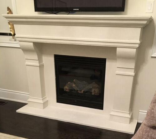 This Week Sale 15%off 72Castelo Cast Stone Fireplace Mantel Mantle Surround