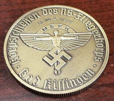 WW2 WWII German NSFK  coin flieger korps