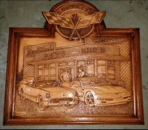 Corvette 50 Anniversary carving