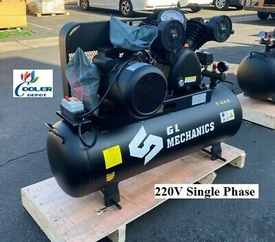 New 5.5 Hp Piston Two Stage Air Compressor Corded Electric Model 220v 1ph