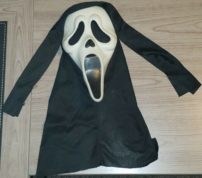 Vintage Scream Ghostface Halloween Mask Easter Unlimited Fun World S9206