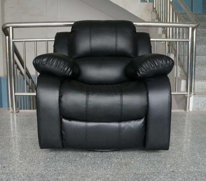 3 Pcs Furniture Sofa Leather Couch Set Living Room