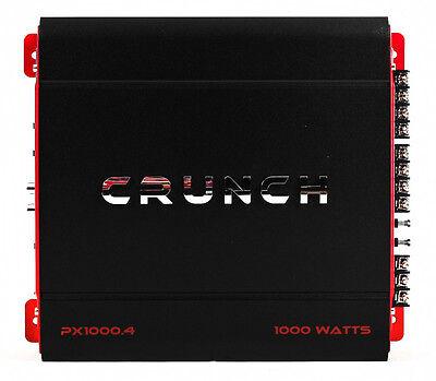 Crunch 4 Channel 1000 Watt Amp A/B Class Car Stereo Amplifier | PX-1000.4