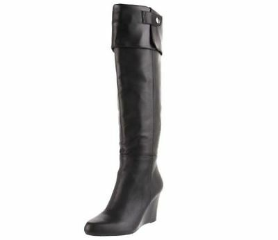 Adrienne Vittadini Footwear Women's Mac Knee-High Boot, Black Nappa, 9 M (Black Nappa Leather Footwear)