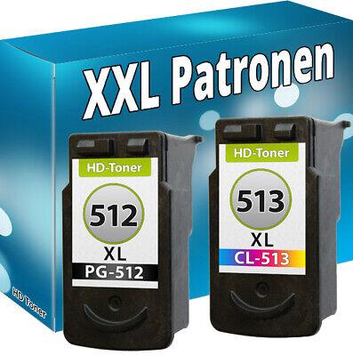 XL DRUCKER PATRONE REFILL für CANON PG-512 CL-513 PIXMA MP270 MP280 MP490 MP495 - Farbpatrone Farbe