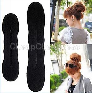 WK-Fashion-Foam-Sponge-Style-Magic-Bun-Hair-Styling-Maker-Tool-Clip-Twist-UK2