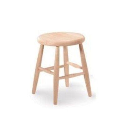 Whitewood Scooped seat stool -24