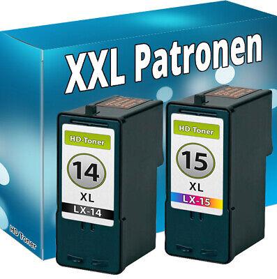 14 Tintenpatronen (DRUCKER PATRONEN für LEXMARK 14+15 XL X2600 X2620 X2630 X2650 X2670 Z2300 Z2320)
