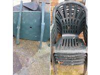 Large garden table 4 chairs