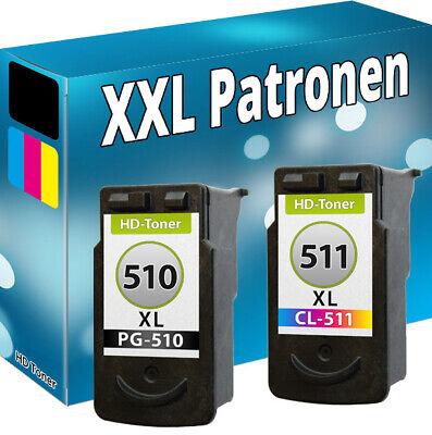 XL DRUCKER PATRONE REFILL für CANON PG-510 CL-511 PIXMA MP280 MP495 MP490 MP270 - Farbpatrone Farbe