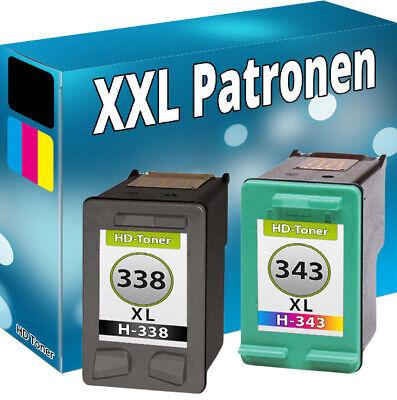 Kompatibel Photo Color Tinte (DRUCKER PATRONEN für HP 338 343 PhotoSmart C3180 DeskJet 460 5740 OfficeJet 6210)