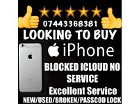 Wanted iPad iPhone 6 6 plus 6s samsung s7 edge s6 edge working or not faulty new used damaged