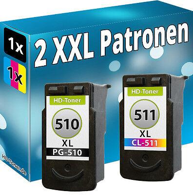 XL DRUCKER PATRONE für CANON PG510 + CL511 PIXMA MP260MP250 MP280 MP495 MP270 online kaufen