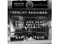 Experienced Barbers Required, Full and Part-Time Positions Available