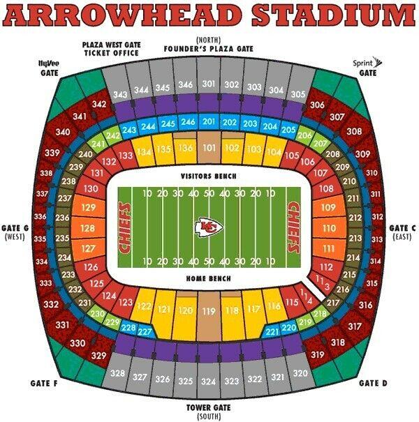 2 of 4th Tix, Kansas City Chiefs vs Dallas Cowboys, 10th Row Uppers, Arrowhead