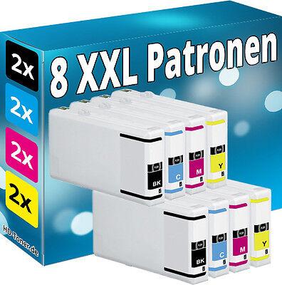 8x PATRONEN komp.für EPSON Workforce Pro WP4025DW WP4535DWF WP4545DTWF WP4595DNF online kaufen