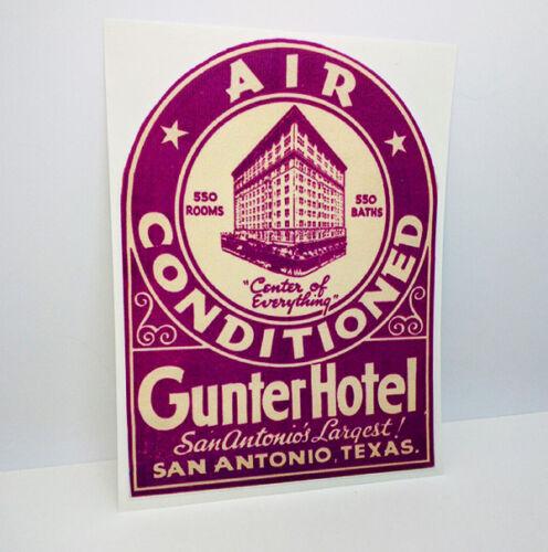 Gunter Hotel San Antonio Texas Vintage Style Travel Decal, Vinyl Sticker
