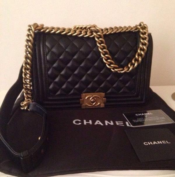 Chanel le Boy Cube Chanel le Boy Bag 25cm Gold