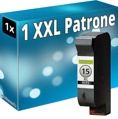 1x XXL TINTE PATRONE für HP 15 DeskJet 3822 940c 3816 3820 PSC 900 950 C6615 ()