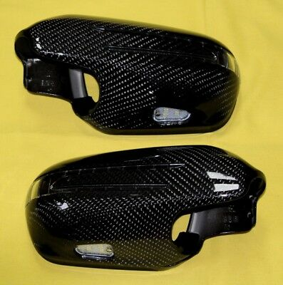 Spiegelkappen CARBON+LED Blinker für Mercedes R230 ab Baujahr 2009 nach 2.MOPF
