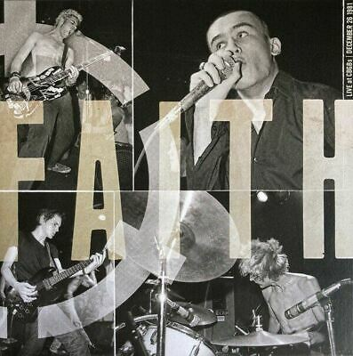 FAITH Live at CBGB's 1981 Punk Hardcore MINOR THREAT BLACK FLAG color vinyl LP