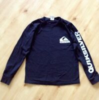Boys Medium Black Quiksilver Long Sleeve Shirt