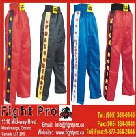 KICK BOXING TROUSER, 7 COLOR COMBINATION TO CHOOSE FROM, WE SHIP