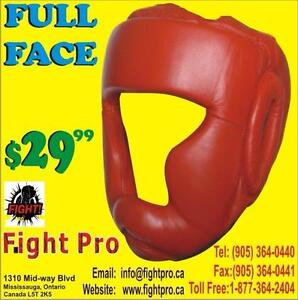 HEAD GUARD, FOR BOXING, KARATE, MUAY THAI STYLE, SAVE 60% OFF ON ALL BOXING ITEM, (905) 364-0440 WWW.FIGHTPRO.CA