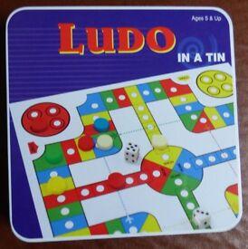 Ludo in a tin Family Travel Game.