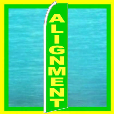 Alignment Auto Repair Feather Swooper Bow Banner Flag