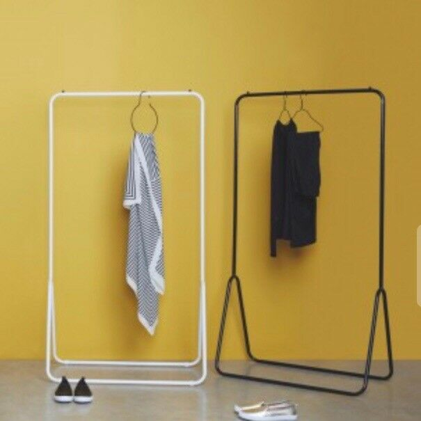 {SOLD} *BRAND NEW* Habitat white metal freestanding clothes rail *STILL IN BOX*