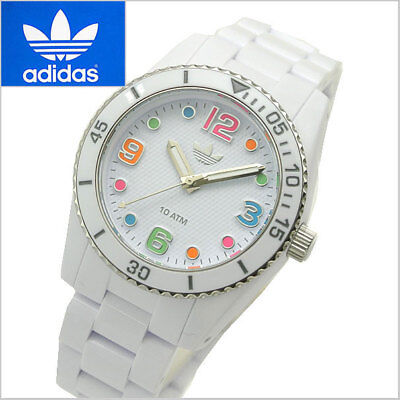 Adidas Originals Women's Multicolor Rainbow Gay Pride BeTrue White Silver Watch