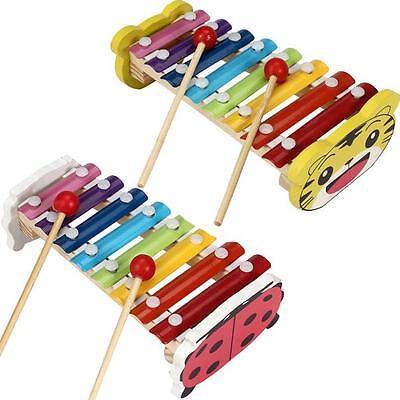 Natale Bambino Kid 8 Note Xilofono Musicale Giocattoli Saggezza Sviluppo