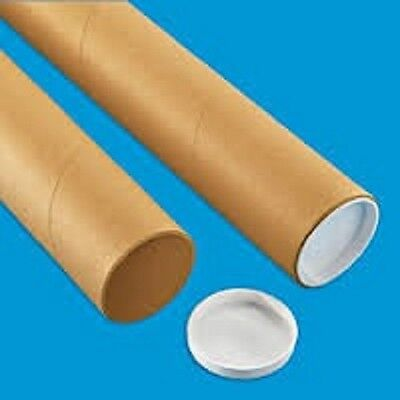 """3"""" x 12"""" Mailing/Shipping Tubes Uline USA; Document,Poster,Art,Photo...Box of 25"""