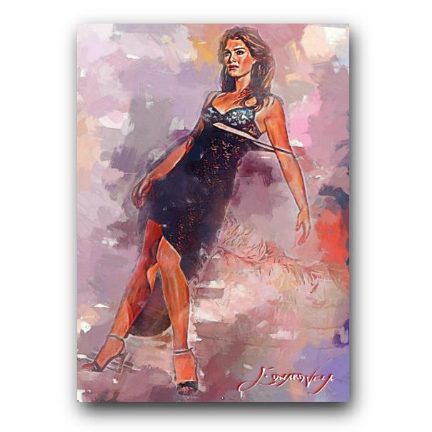 Brooke Shields Sketch Card Limited 34/50 Edward Vela Signed - $2.99
