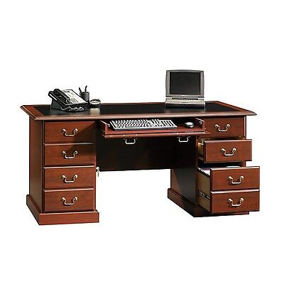 New Sauder Office Executive Desk Computer Table 65 Model Cherry Free Ship
