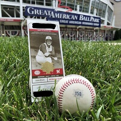 Cincinnati Reds 150th Anniversary Official Rawlings MLB Baseball and Ticket Com