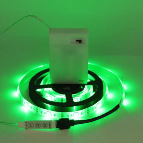 5050 RGB Waterproof LED Flexible Strip Light Battery Operate