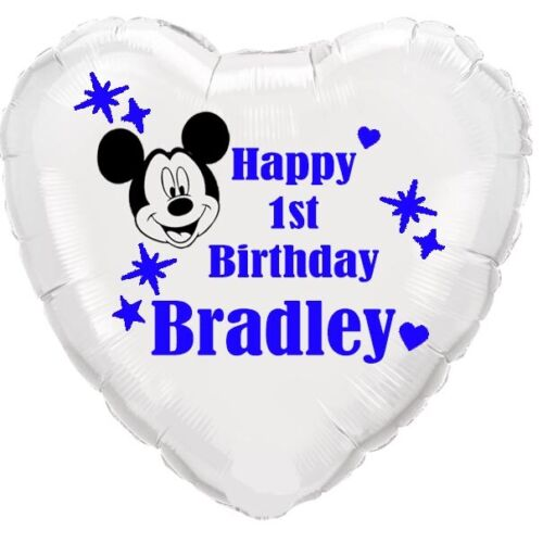Mickey+mouse+PERSONALISED+foil+balloon+birthday+ANY+AGE+Disney+party