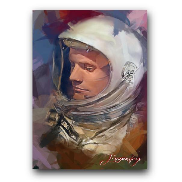 Neil Armstrong 4 Sketch Card Limited 20/50 Edward Vela Signed - $2.99
