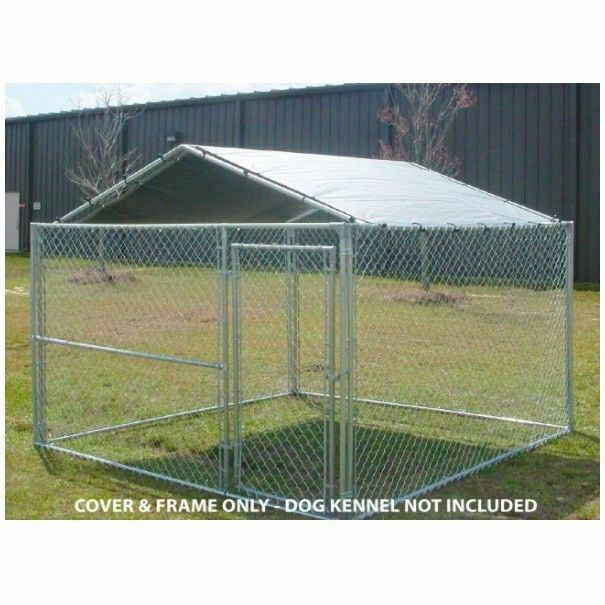 Dog House Cover 10 X Kennel Canopy Outdoor Roof Cage Pen Crate Large Top