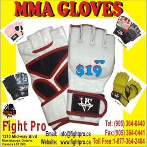 MMA GLOVES, GREAT QUALITY, SPECIAL SPECIAL . SAVE $$$$$$  DISCOUNT FOR MMA CLUBS (905)364-0440 WWW,FIGHTPRO.CA